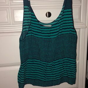 Teal and Navy cotton tank top